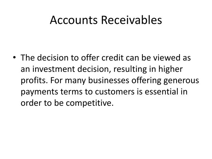 Accounts Receivables