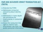 fair and accurate credit transaction act facta