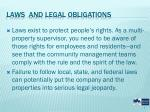 laws and legal obligations