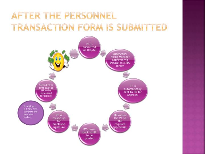 After the personnel Transaction form is submitted