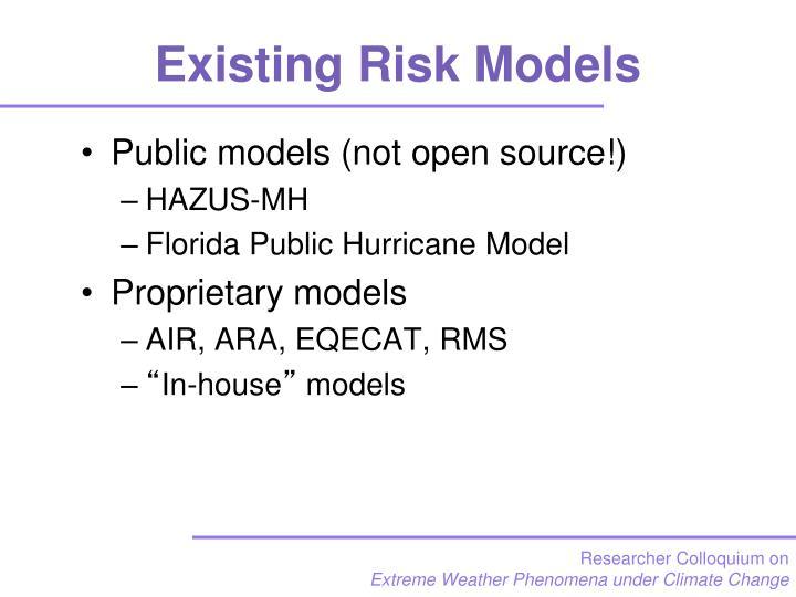 Existing Risk Models