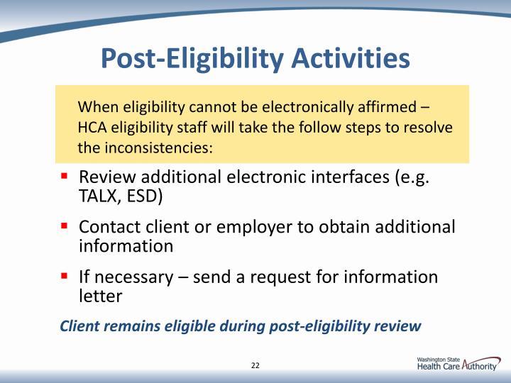 Post-Eligibility
