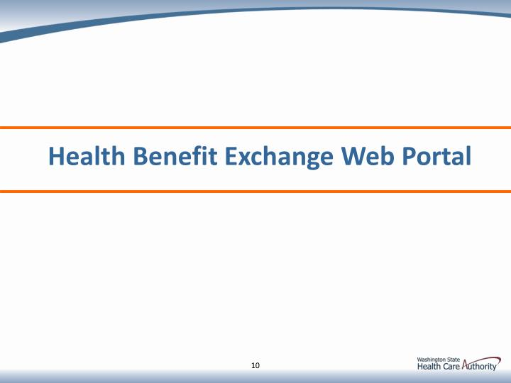 Health Benefit Exchange Web Portal