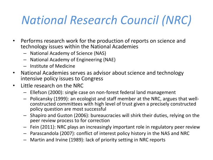 National Research Council (NRC)
