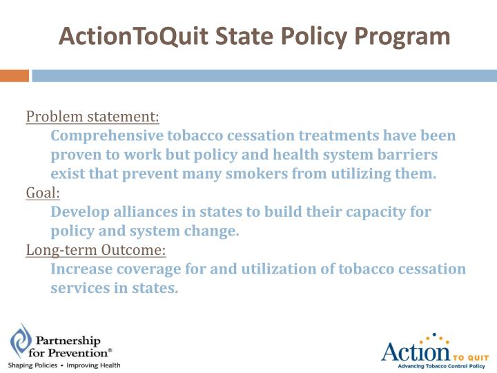 ActionToQuit State Policy Program