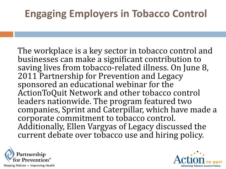 Engaging Employers in Tobacco Control