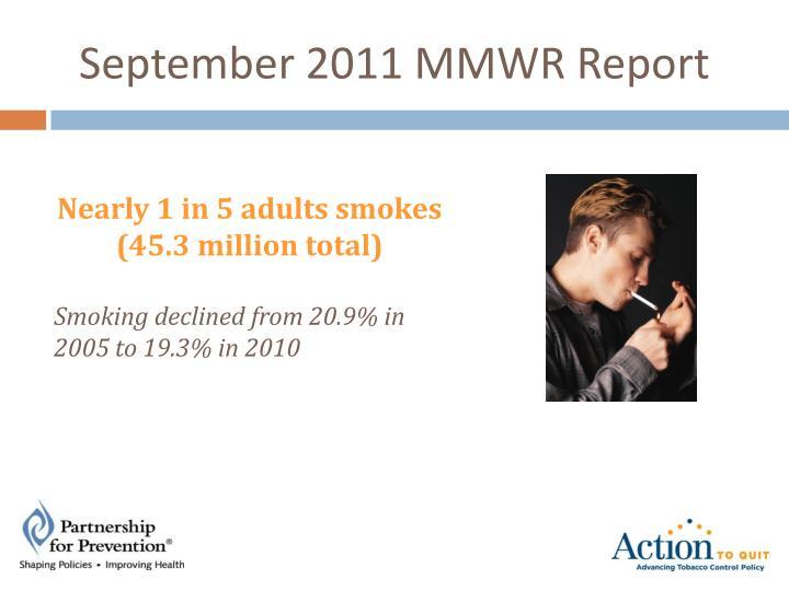 September 2011 MMWR Report