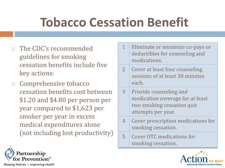 Tobacco Cessation Benefit