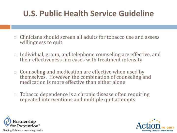 U.S. Public Health Service Guideline