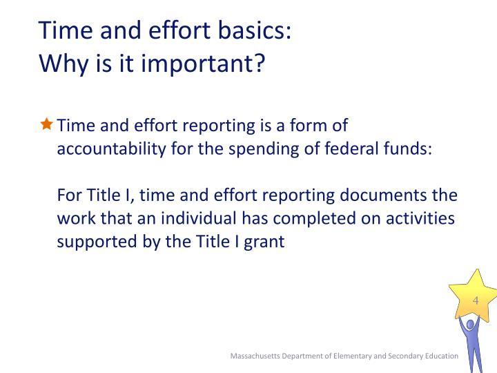 Time and effort basics: