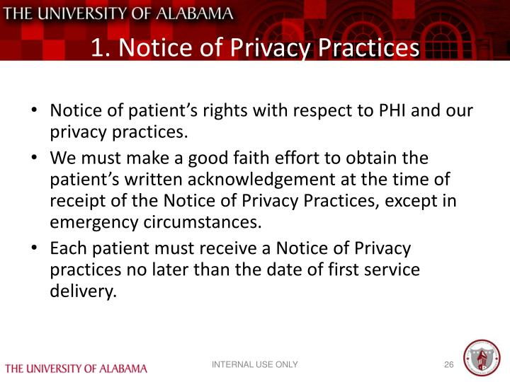 1. Notice of Privacy Practices