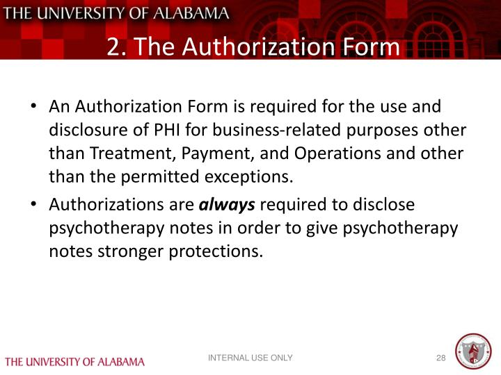 2. The Authorization Form