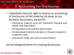 3 accounting for disclosures