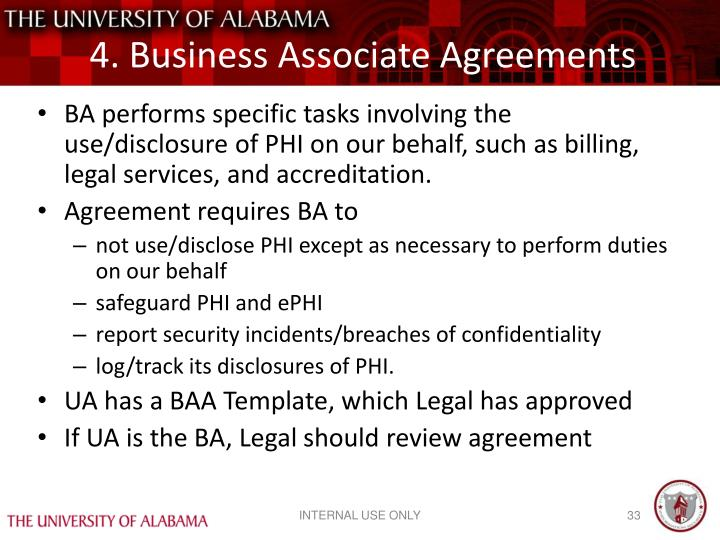 4. Business Associate Agreements
