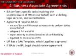 4 business associate agreements