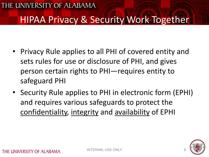 HIPAA Privacy & Security Work Together