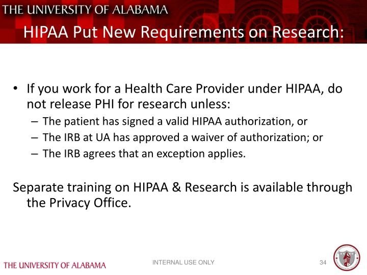 HIPAA Put New Requirements on Research: