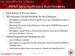 hipaa security privacy rule penalties