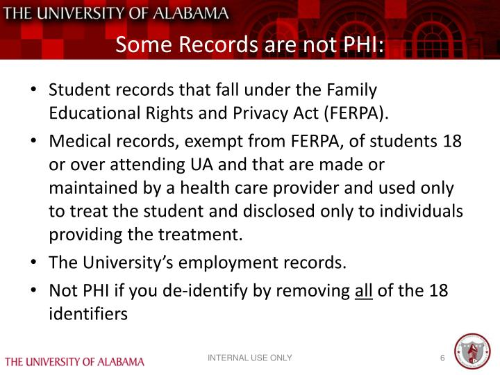 Some Records are not PHI:
