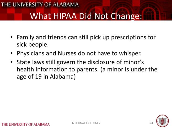 What HIPAA Did Not Change: