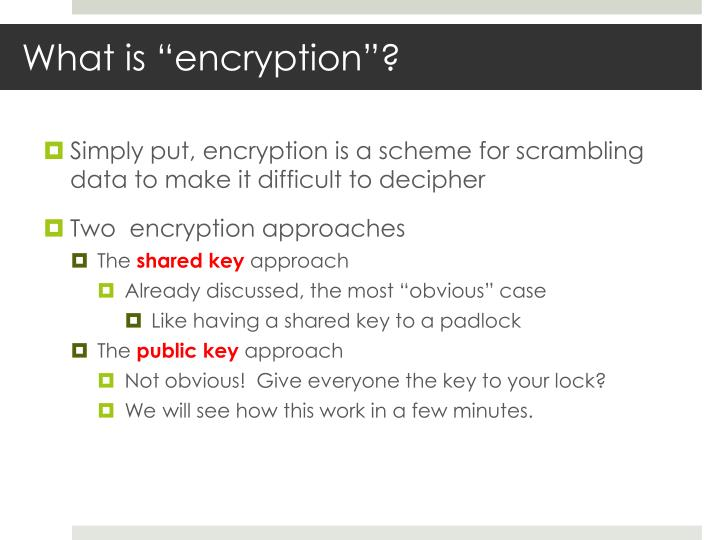 "What is ""encryption""?"