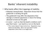 banks inherent instability