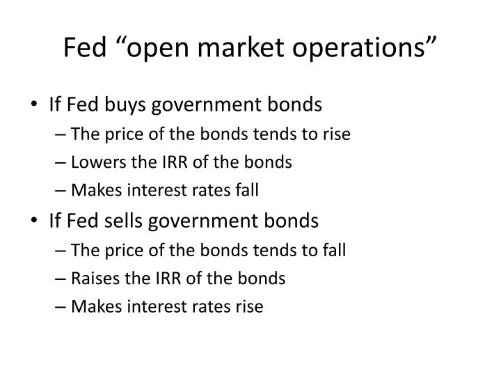"Fed ""open market operations"""
