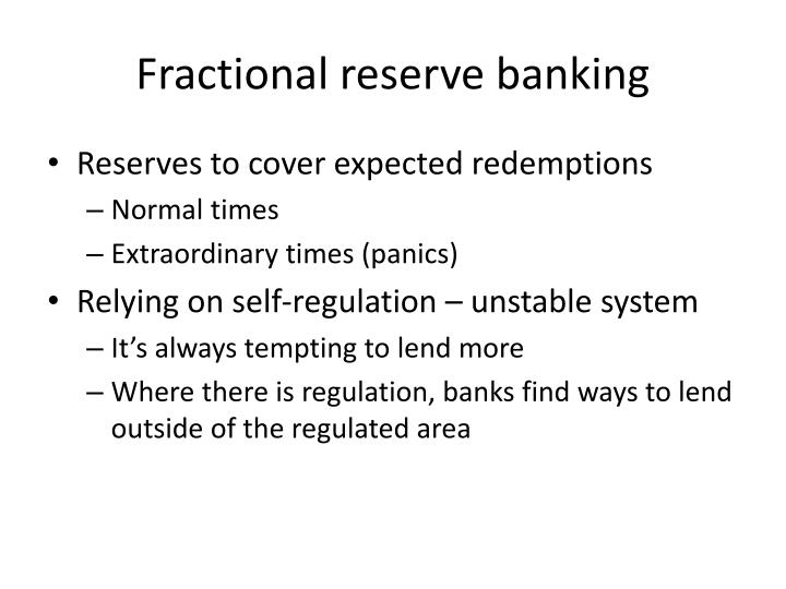 Fractional reserve banking