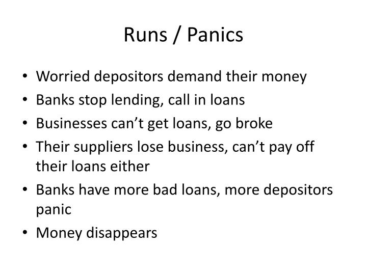 Runs / Panics