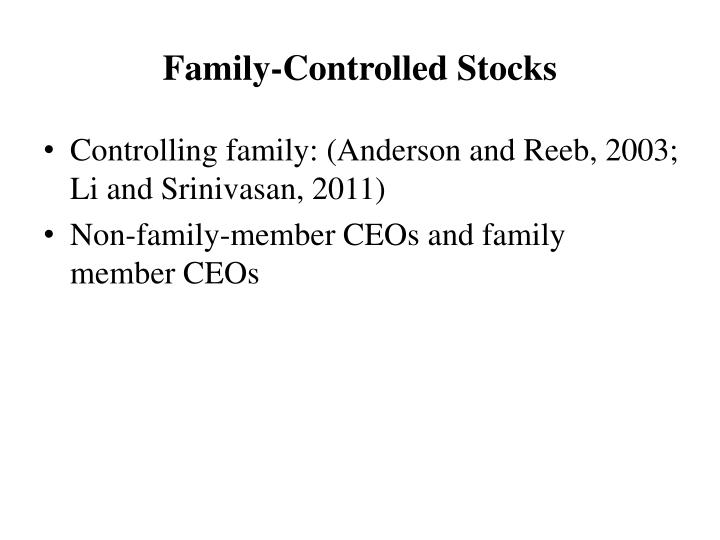 Family-Controlled Stocks