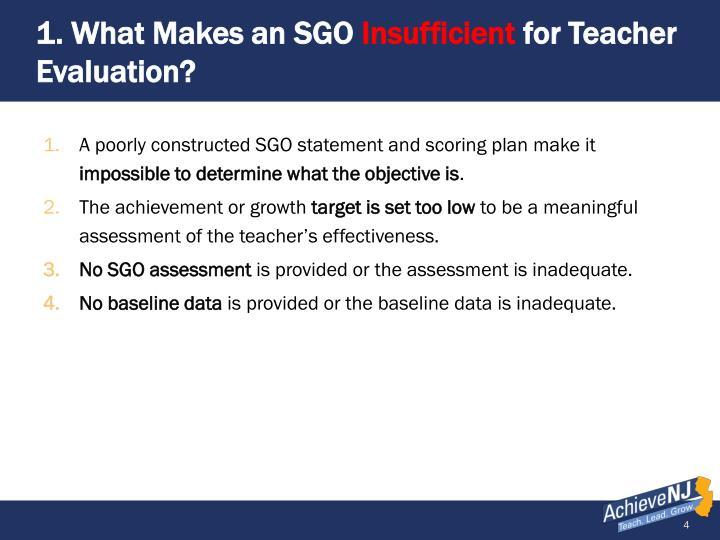 1. What Makes an SGO