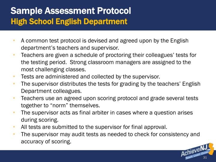 Sample Assessment Protocol