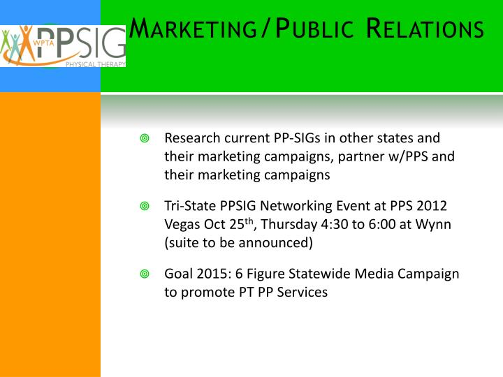 Marketing/Public Relations