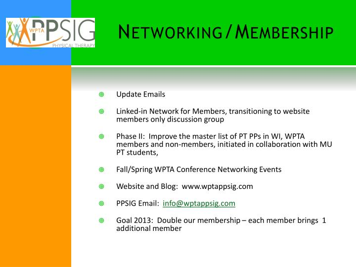 Networking/Membership