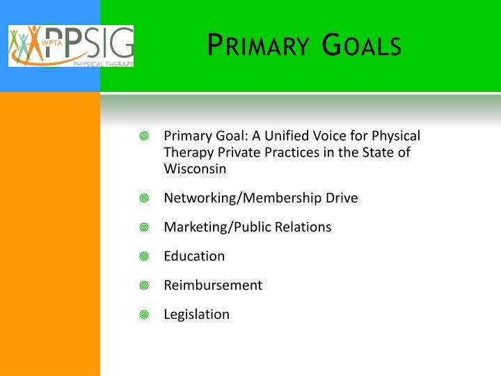 Primary Goals