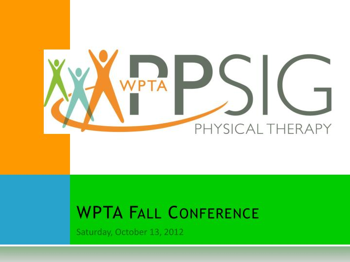 Wpta fall conference