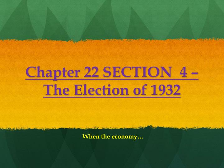 Chapter 22 SECTION