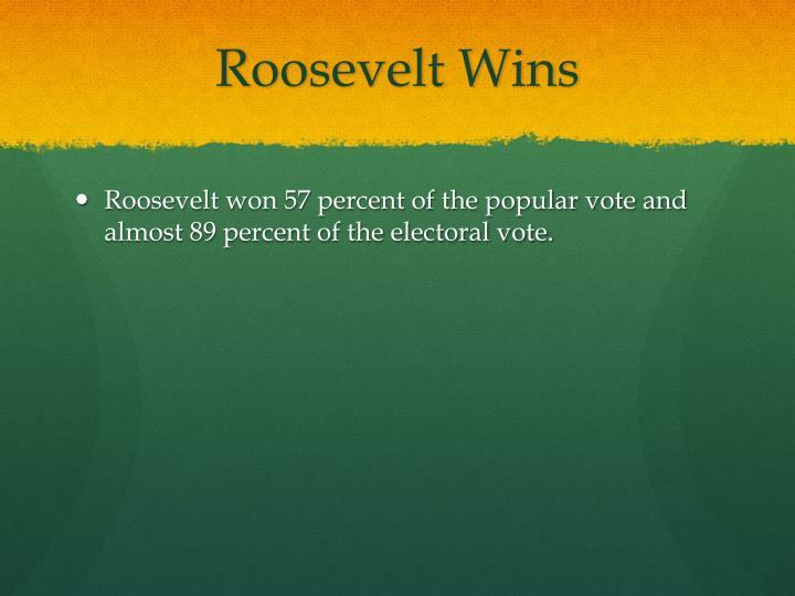 Roosevelt Wins