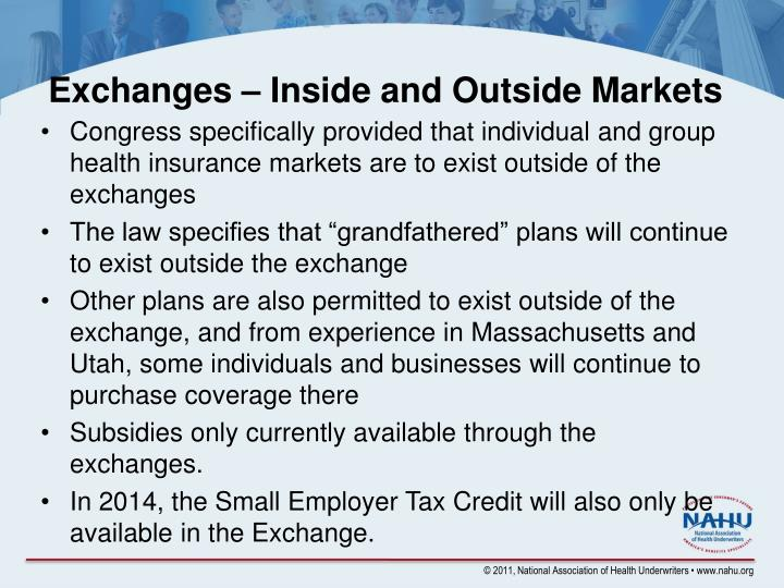 Exchanges – Inside and Outside Markets