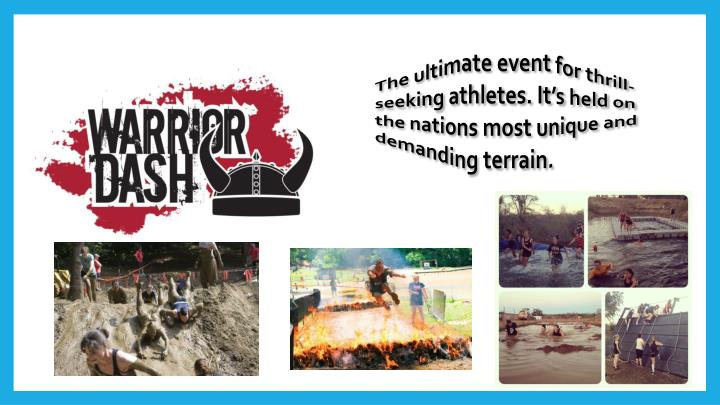 The ultimate event for thrill-seeking athletes. It's held on the nations most unique and demanding terrain.