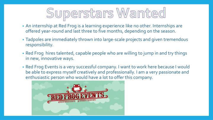 Superstars Wanted