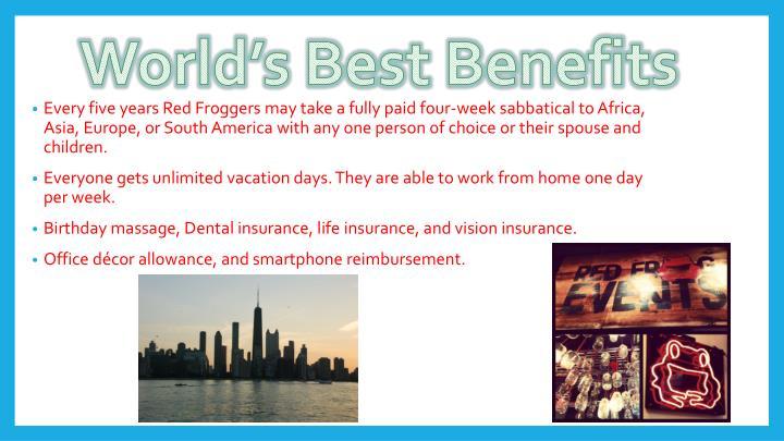 World's Best Benefits