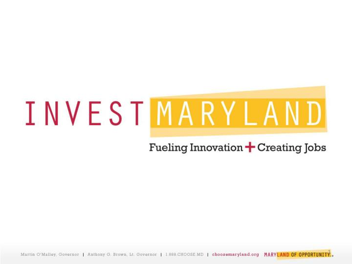 Investmaryland 2012 timeline january 1 dbed receives vc certification applications on behalf of mvfa