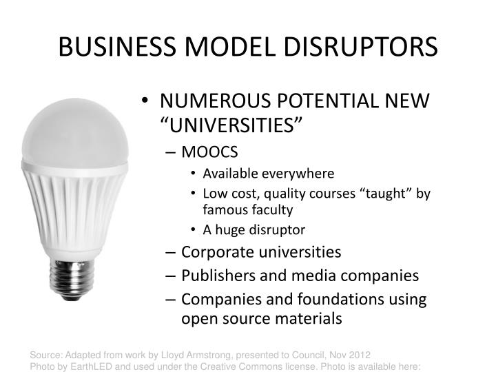 BUSINESS MODEL DISRUPTORS
