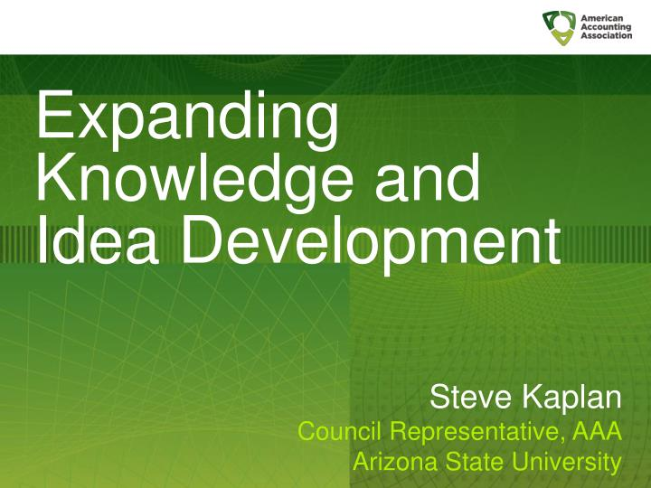 Expanding Knowledge and Idea Development