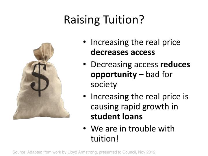 Raising Tuition?