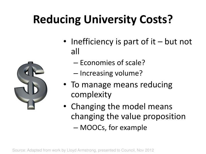 Reducing University Costs?