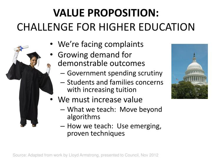 VALUE PROPOSITION:
