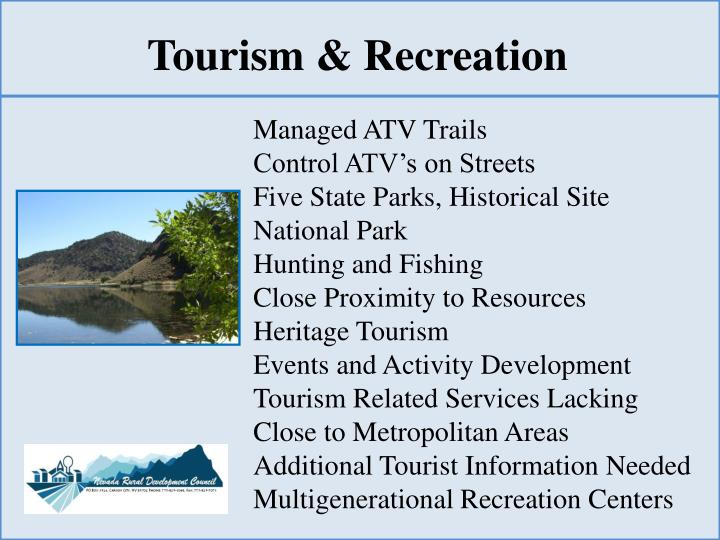 Tourism & Recreation