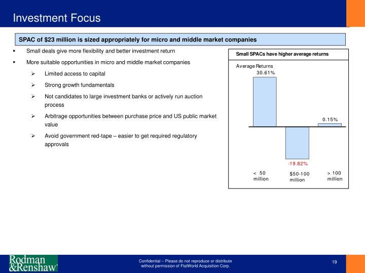 Investment Focus